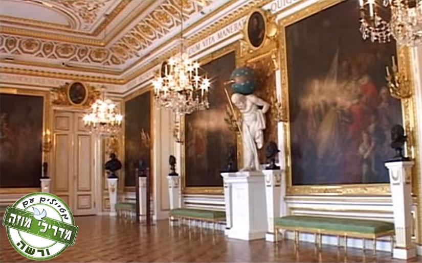 בתמונה: אולם מתוך הטירה המלכותית של ורשה